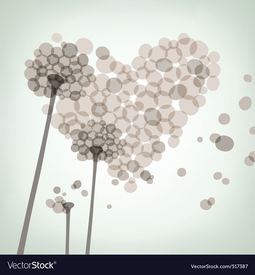 Dandelion love vector | Price: 1 Credit (USD $1)