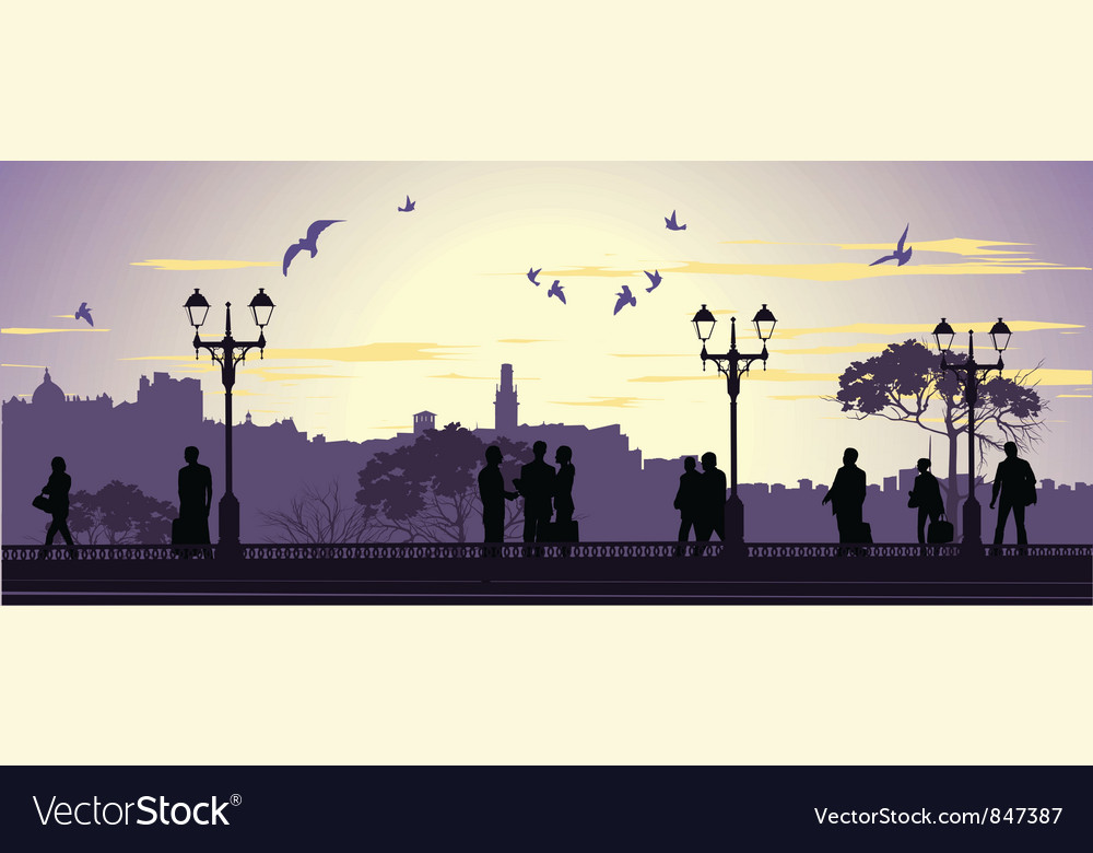 Evening meetings vector | Price: 1 Credit (USD $1)