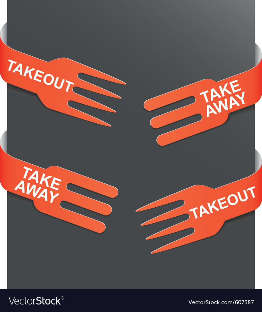 Left and right side signs - takeout and takeaway vector | Price: 1 Credit (USD $1)