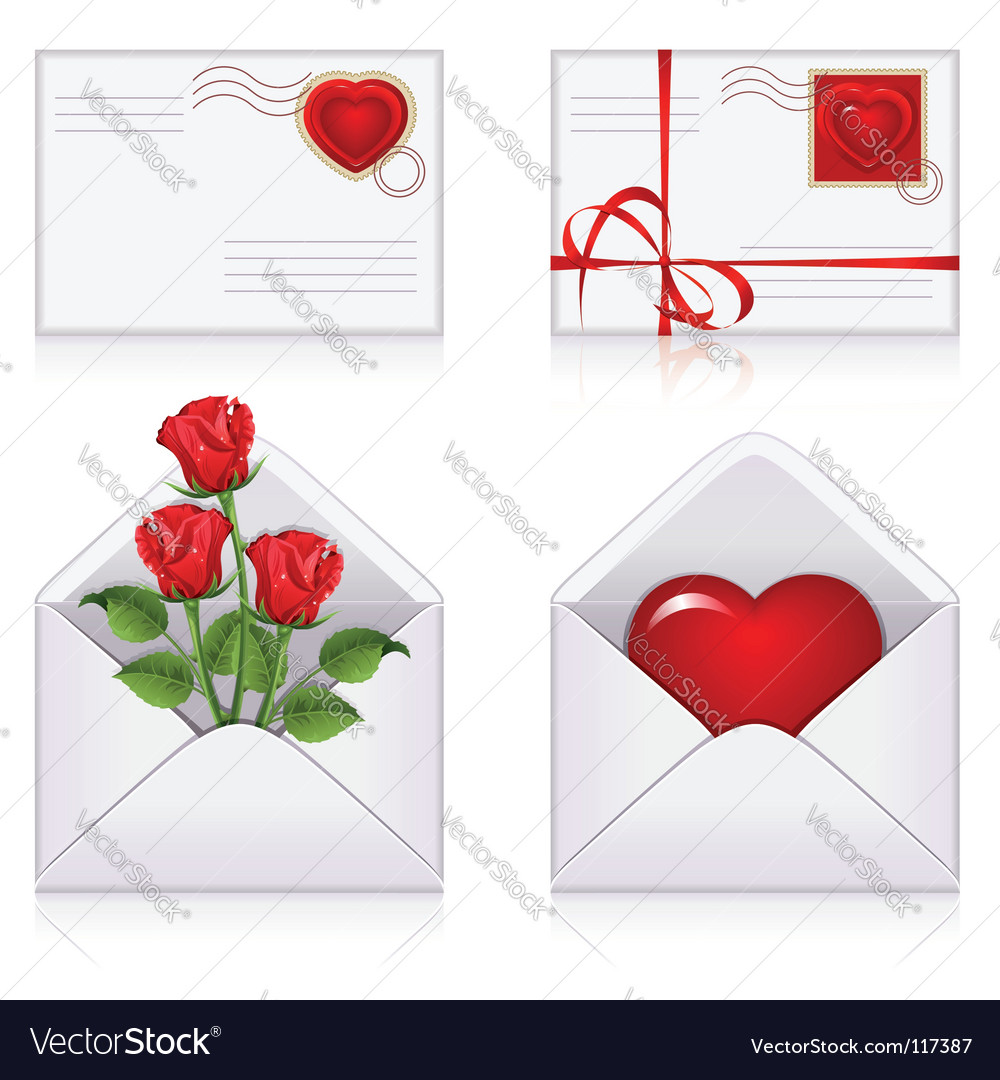 Love envelopes vector | Price: 1 Credit (USD $1)