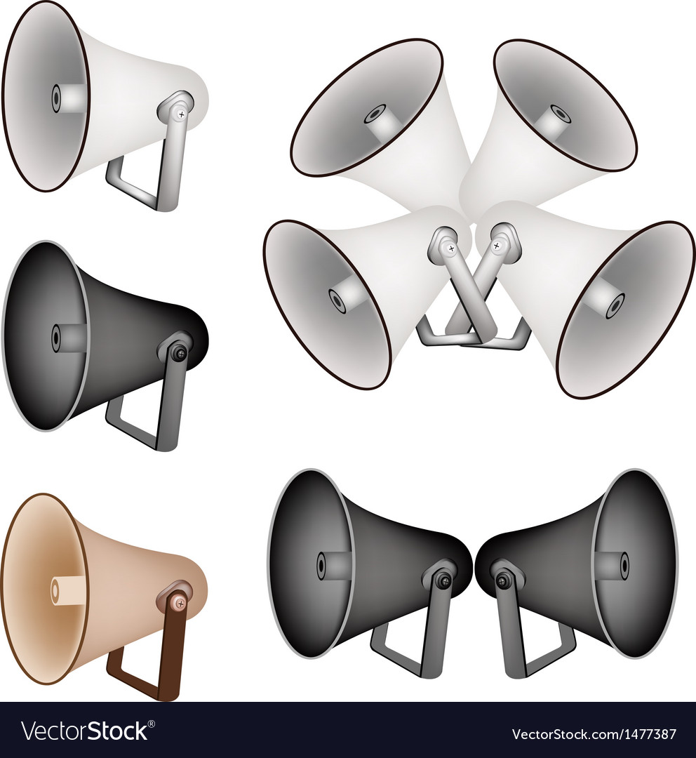 Megaphone set vector | Price: 1 Credit (USD $1)