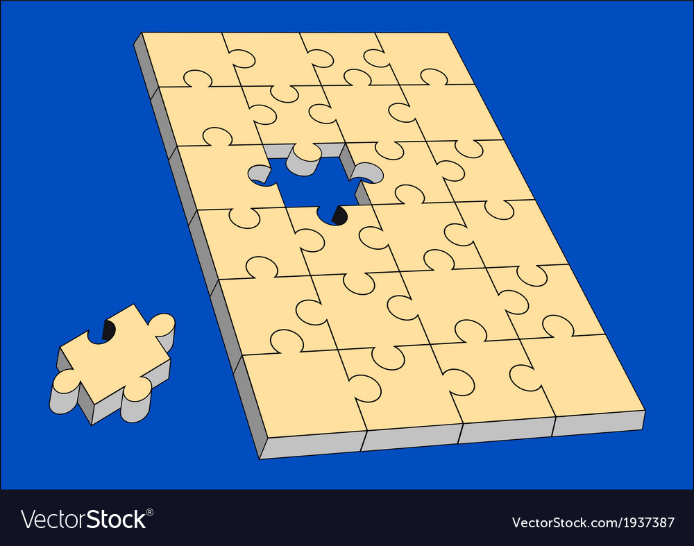 Puzzle almost solved vector | Price: 1 Credit (USD $1)