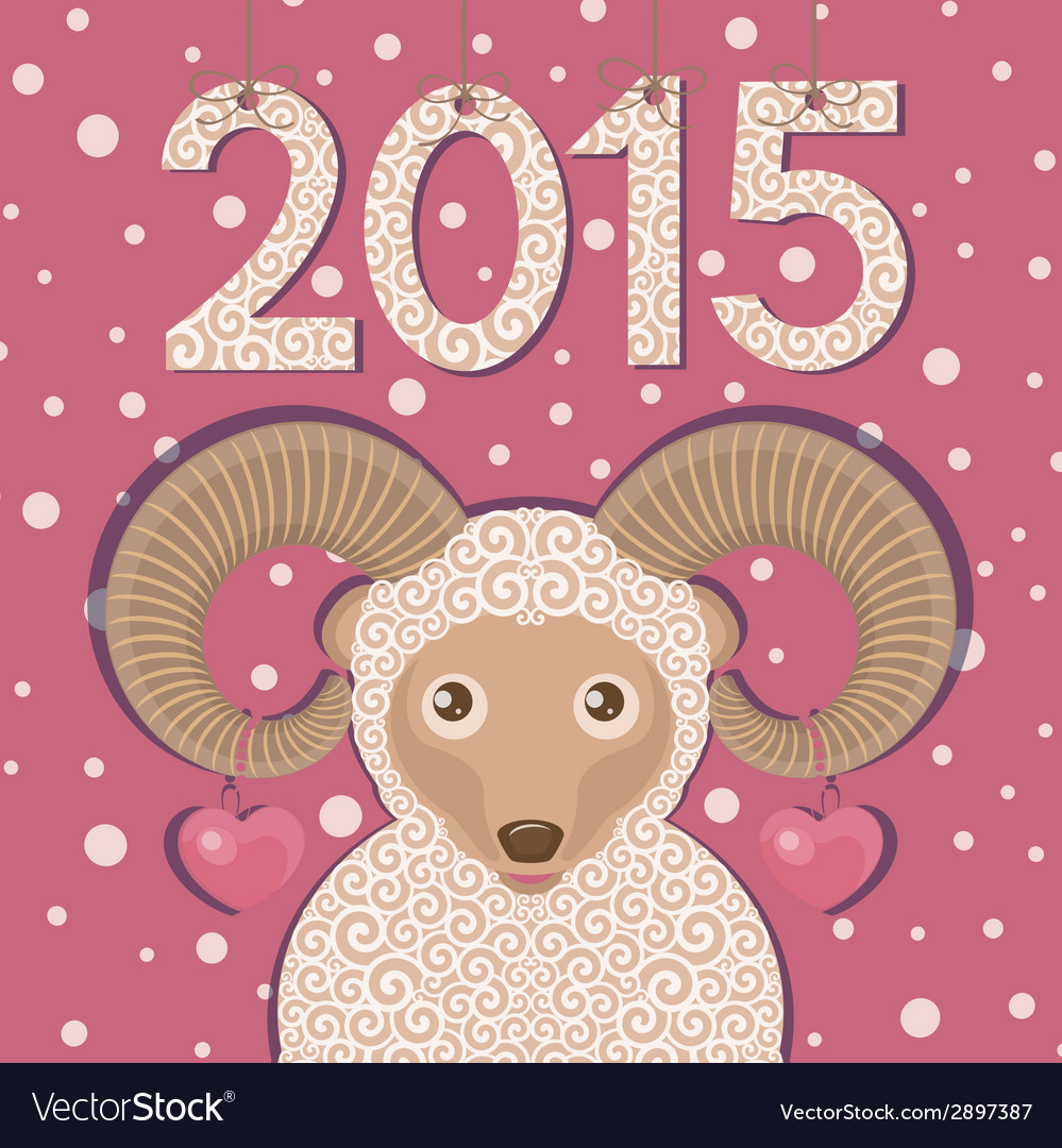 Ram symbol of new year 2015 vector | Price: 1 Credit (USD $1)
