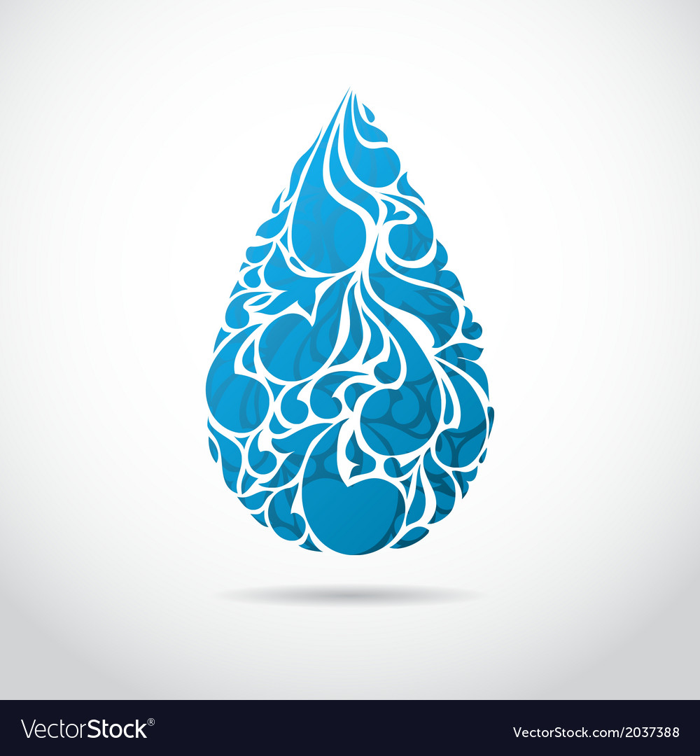 Abstract blue water drop vector | Price: 1 Credit (USD $1)