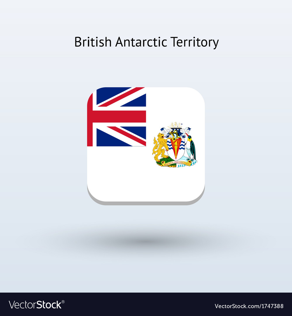 British antarctic territory flag icon vector | Price: 1 Credit (USD $1)