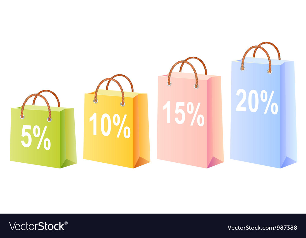 Shopping bags and discount vector | Price: 1 Credit (USD $1)
