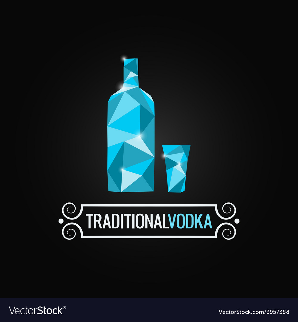 Vodka bottle poly design background vector | Price: 1 Credit (USD $1)