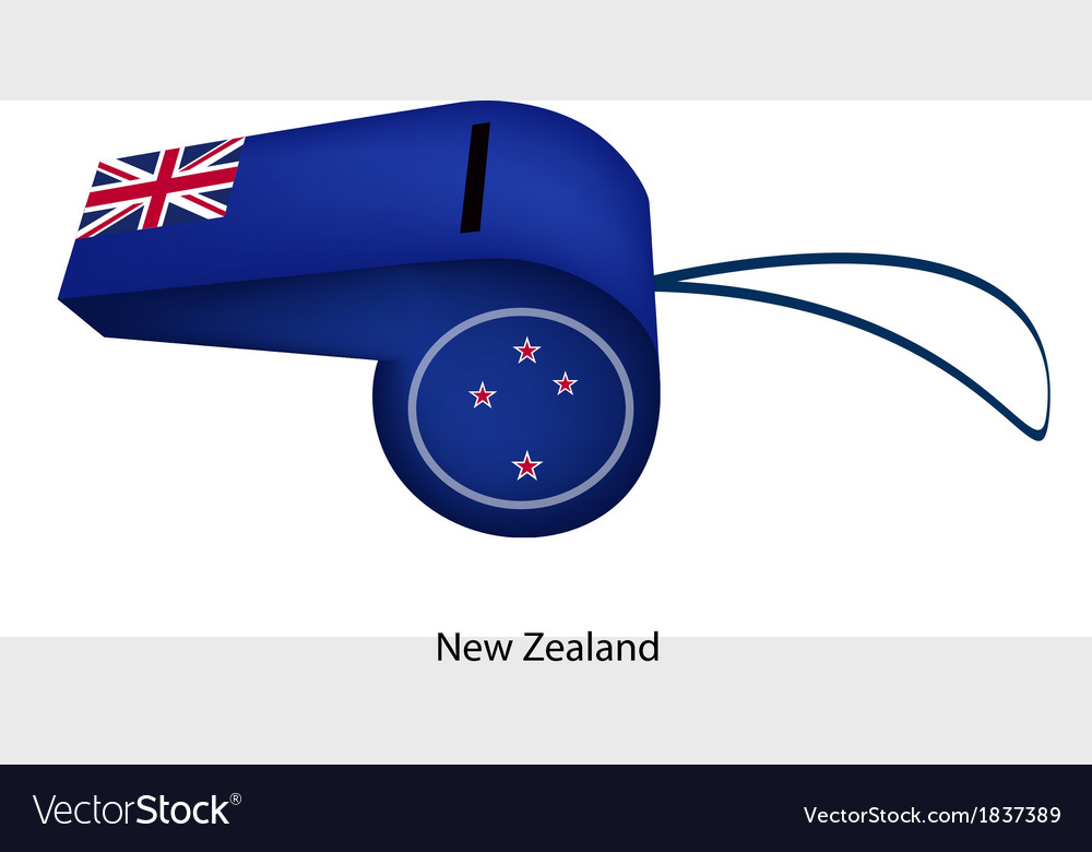A beautiful blue whistle of new zealand vector | Price: 1 Credit (USD $1)