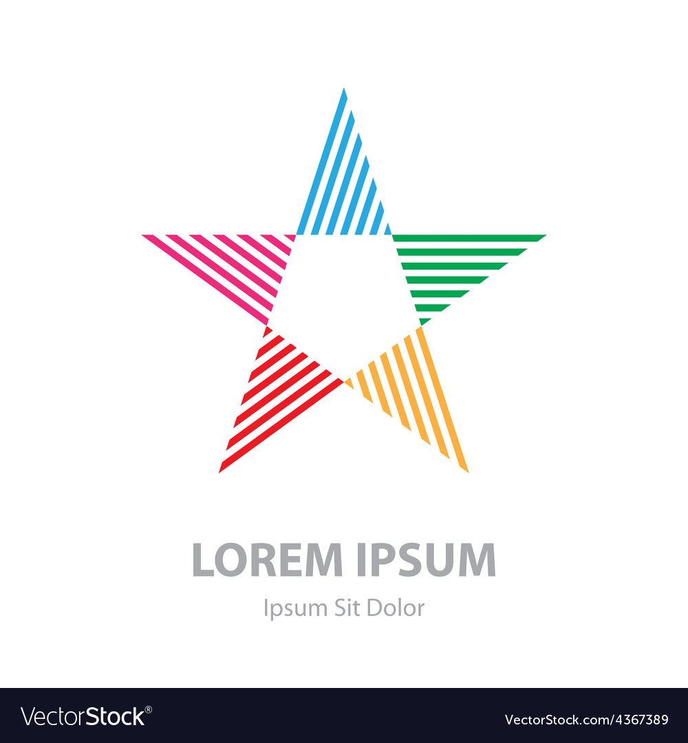 Abstract star logo corporate symbol business icon vector