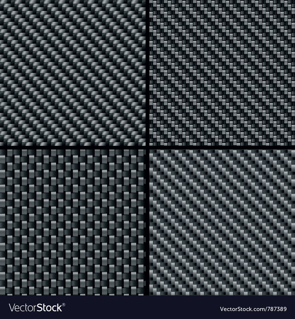 Carbon fiber seamless patterns vector | Price: 1 Credit (USD $1)