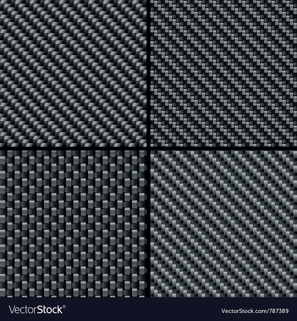 Carbon fiber seamless patterns vector | Price: 1 Credit (USD $1)