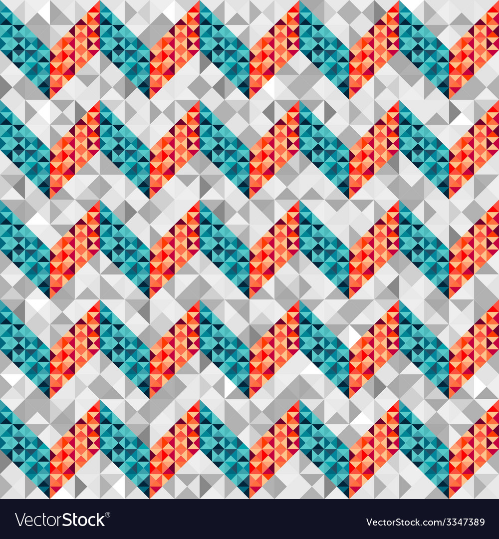 Chevron pattern in geometric style vector