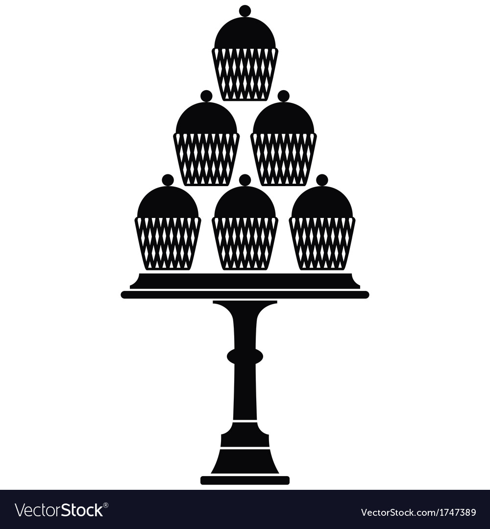 Cup cake stand vector | Price: 1 Credit (USD $1)
