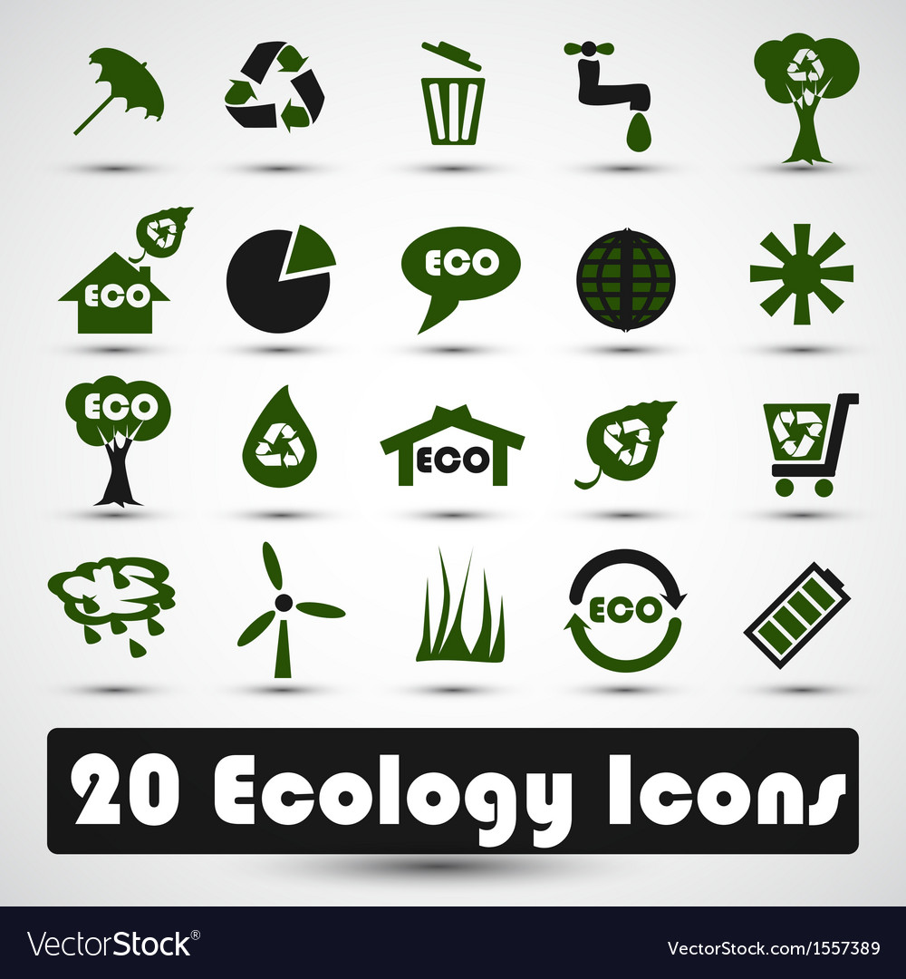 Eco icons set use for business vector | Price: 3 Credit (USD $3)