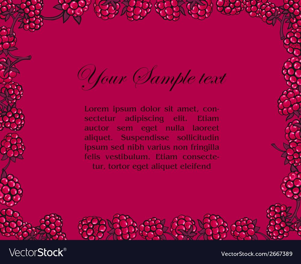 Frame of raspberries vector | Price: 1 Credit (USD $1)