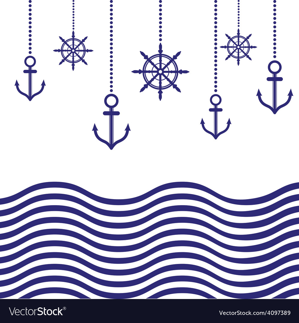 Nautical template vector | Price: 1 Credit (USD $1)