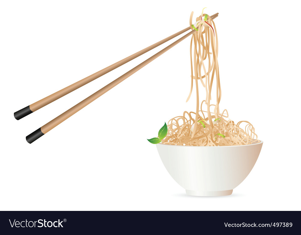 Noodles with chopstick vector | Price: 3 Credit (USD $3)