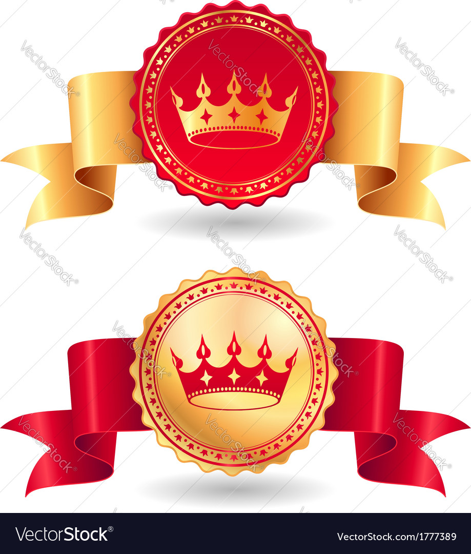 Ribbons royal vector | Price: 1 Credit (USD $1)