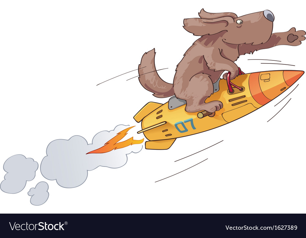 Rocket dog vector | Price: 1 Credit (USD $1)