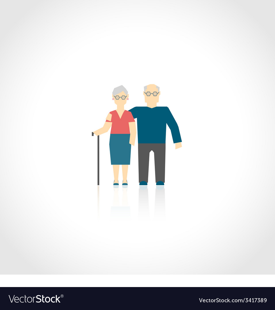 Senior couple flat vector | Price: 1 Credit (USD $1)