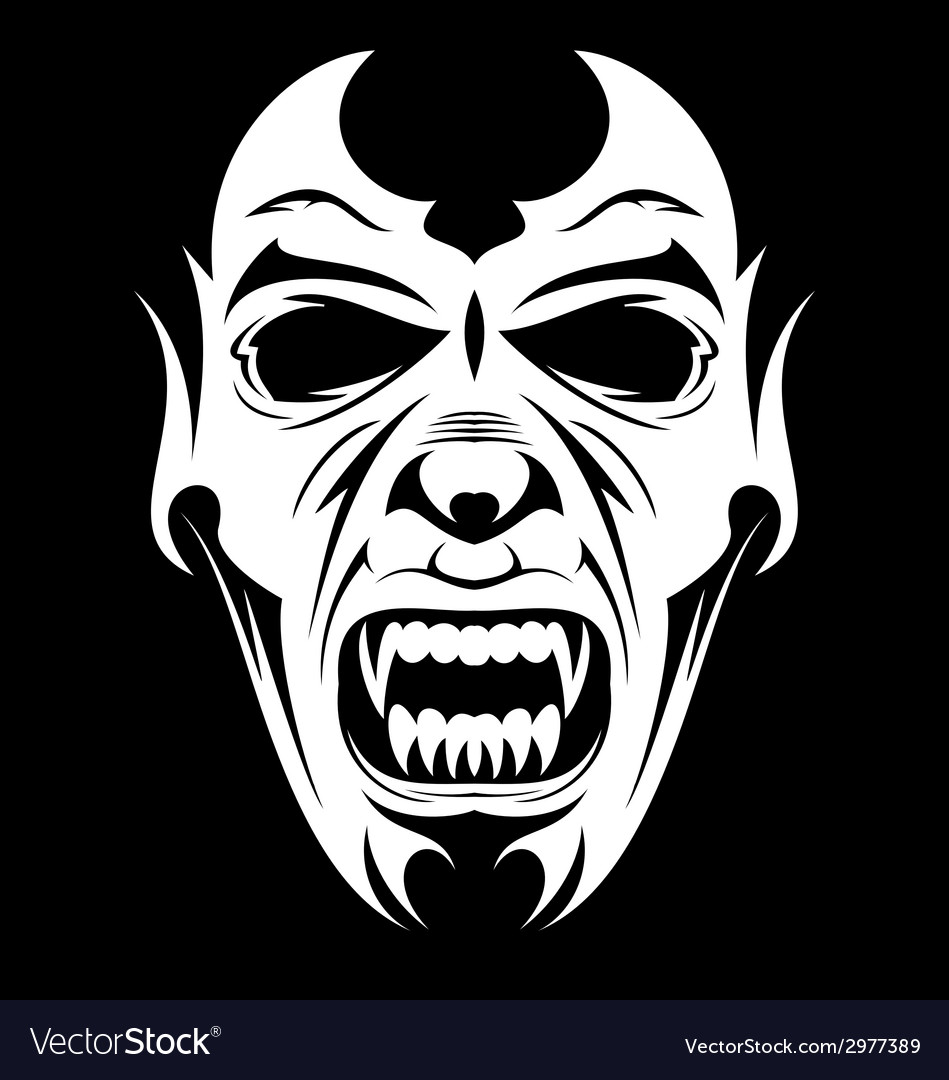 White vampire face vector | Price: 1 Credit (USD $1)