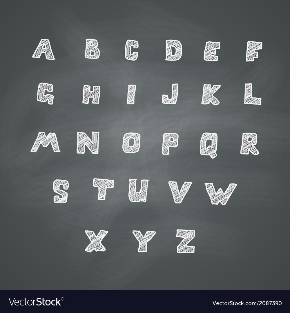 Alphabet on chalkboard vector | Price: 1 Credit (USD $1)