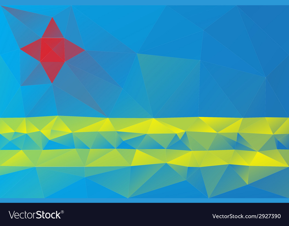 Aruba flag vector | Price: 1 Credit (USD $1)