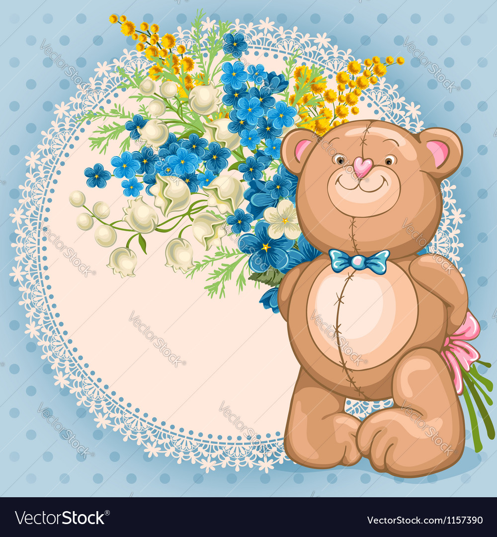 Background with teddy bear vector | Price: 1 Credit (USD $1)