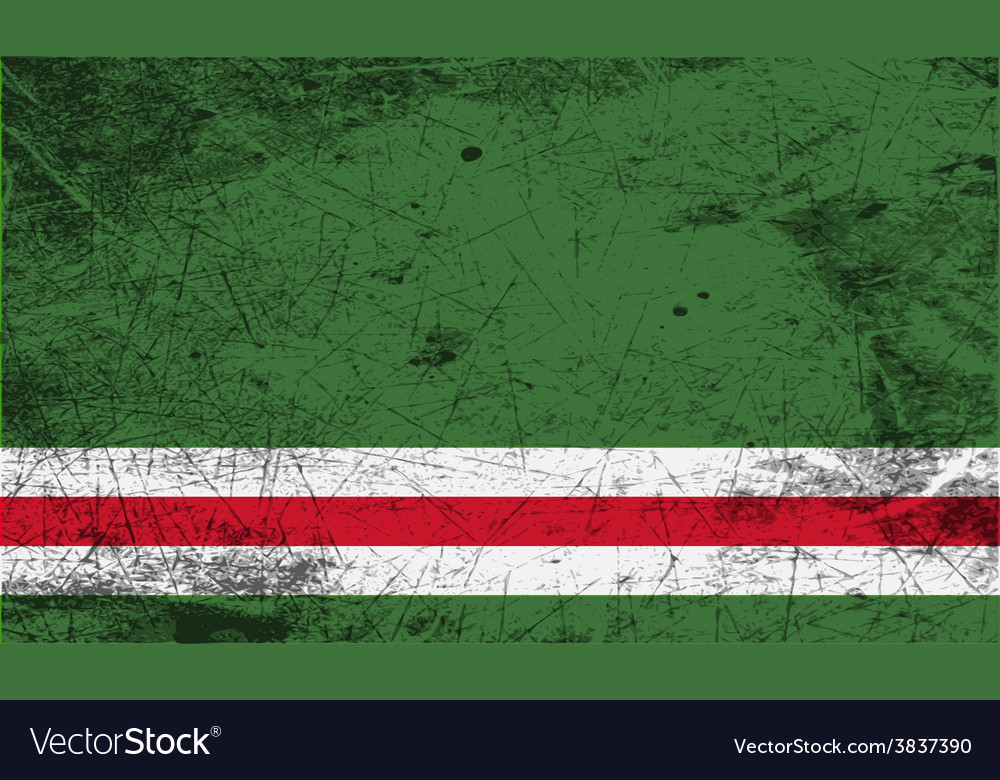 Flag of chechen republic of ichkeria with old vector | Price: 1 Credit (USD $1)