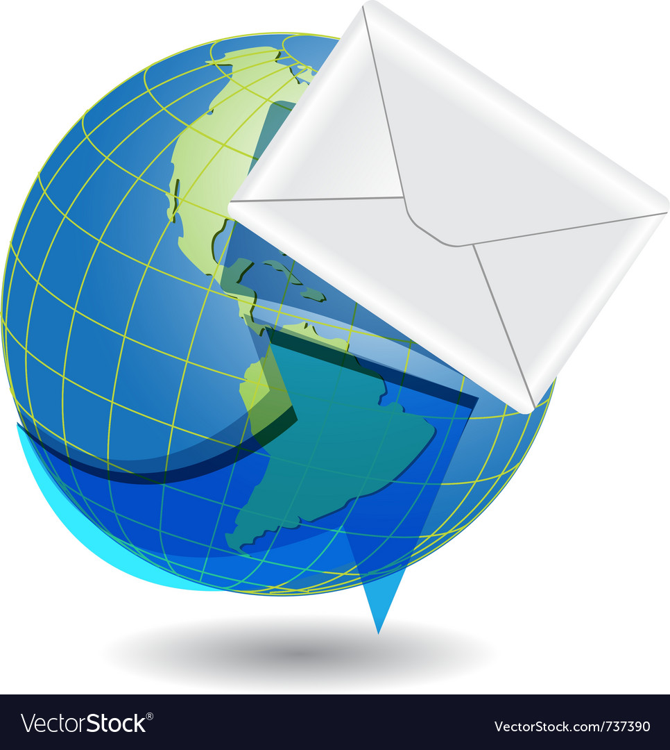 Global mail concept vector | Price: 1 Credit (USD $1)
