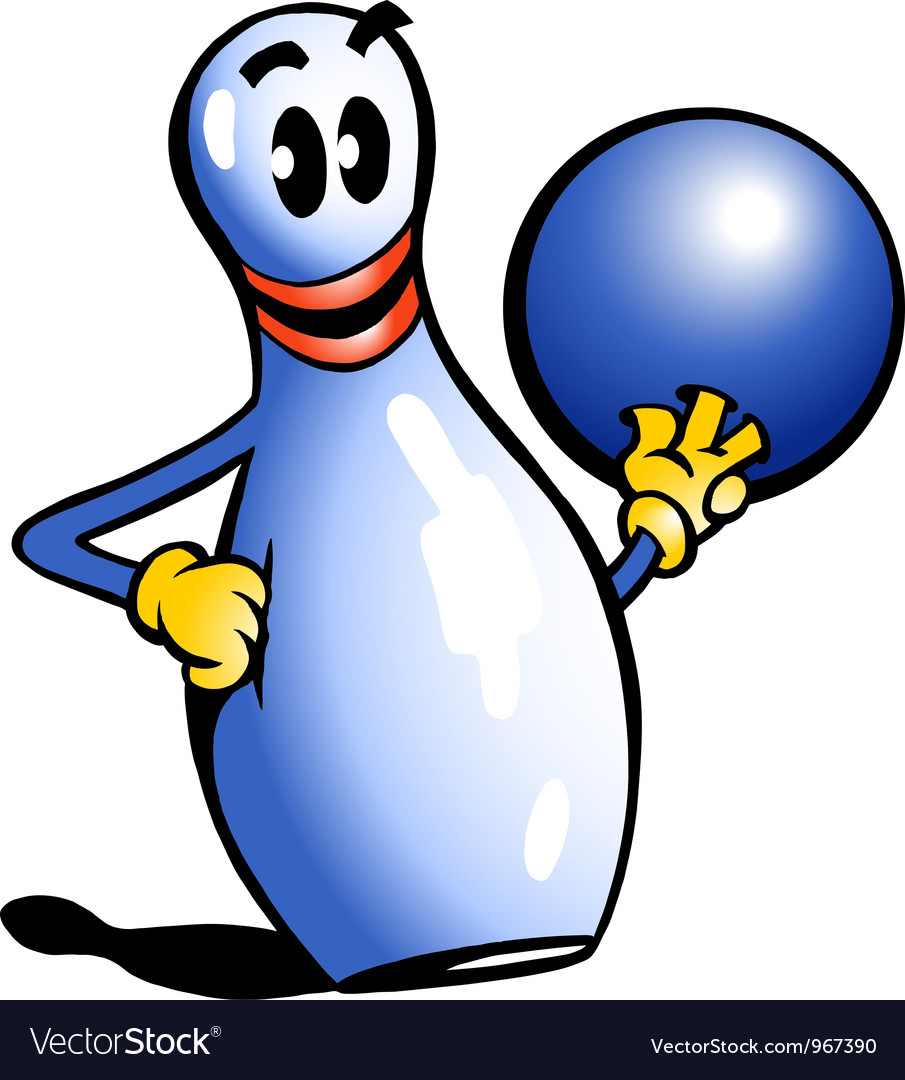 Hand-drawn of an bowling pin vector | Price: 1 Credit (USD $1)