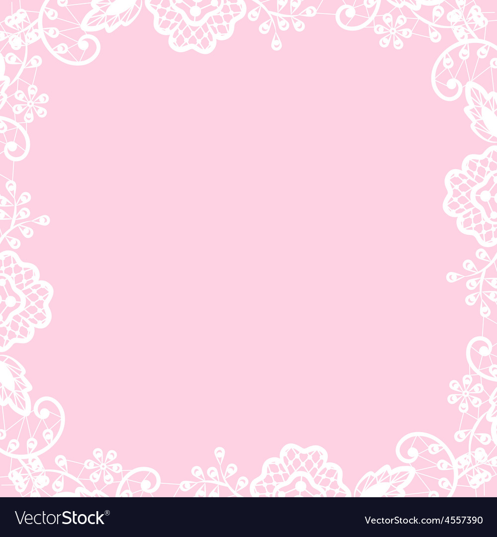 Lace frame on pink background vector | Price: 1 Credit (USD $1)