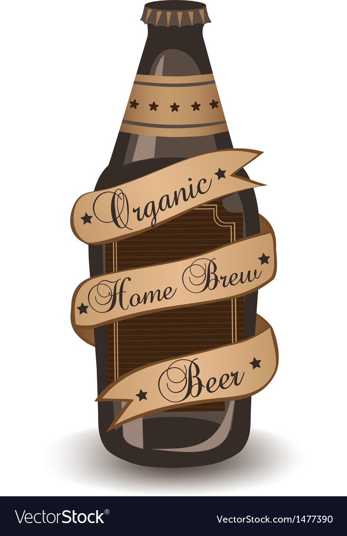 Organic home brew beer vector | Price: 1 Credit (USD $1)