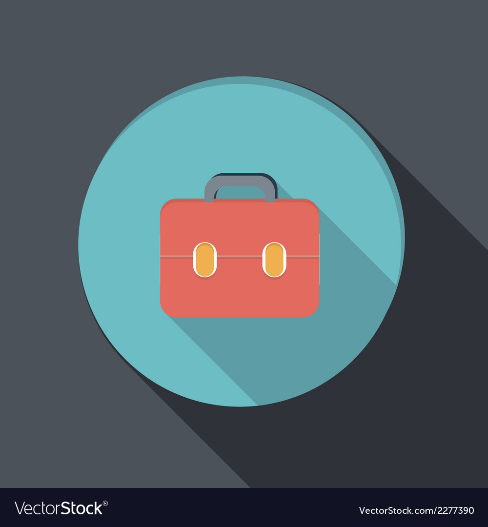 Paper flat icon with a shadow briefcase vector | Price: 1 Credit (USD $1)