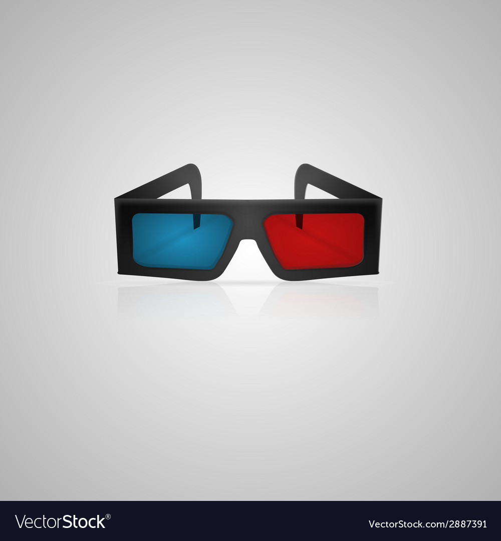 Black 3d cinema glasses vector | Price: 1 Credit (USD $1)