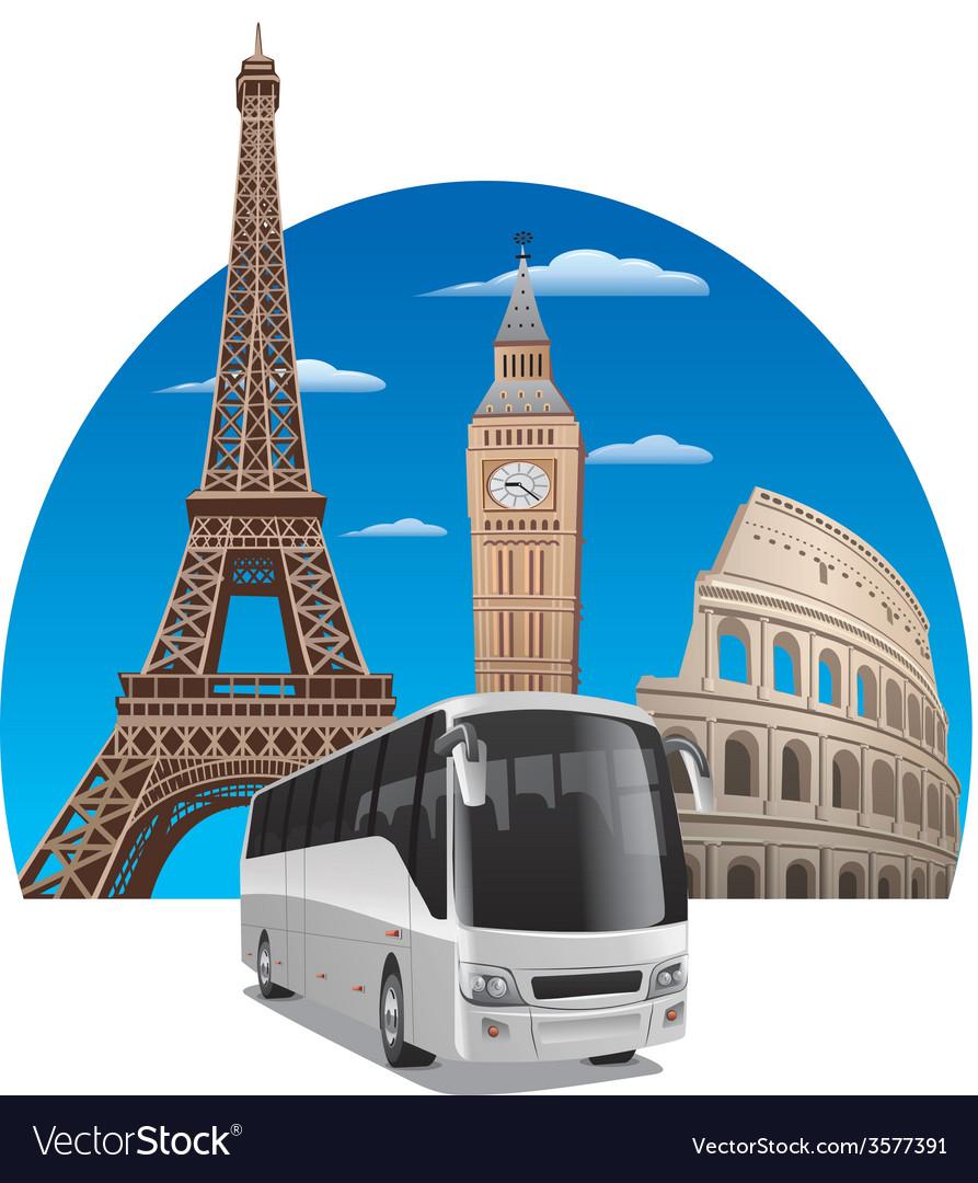 Bus tour vector | Price: 3 Credit (USD $3)