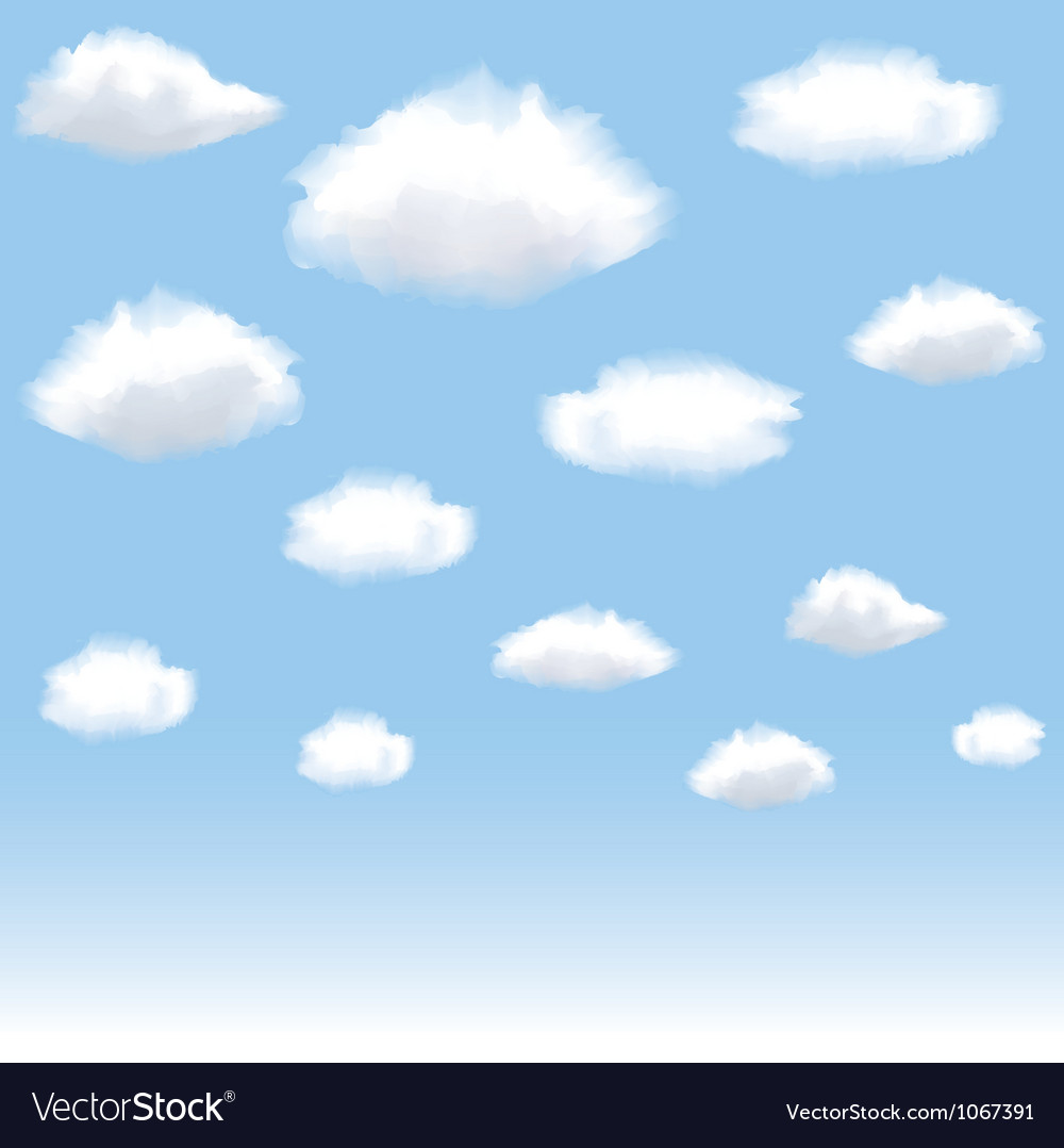 Clouds in blue sky vector | Price: 1 Credit (USD $1)