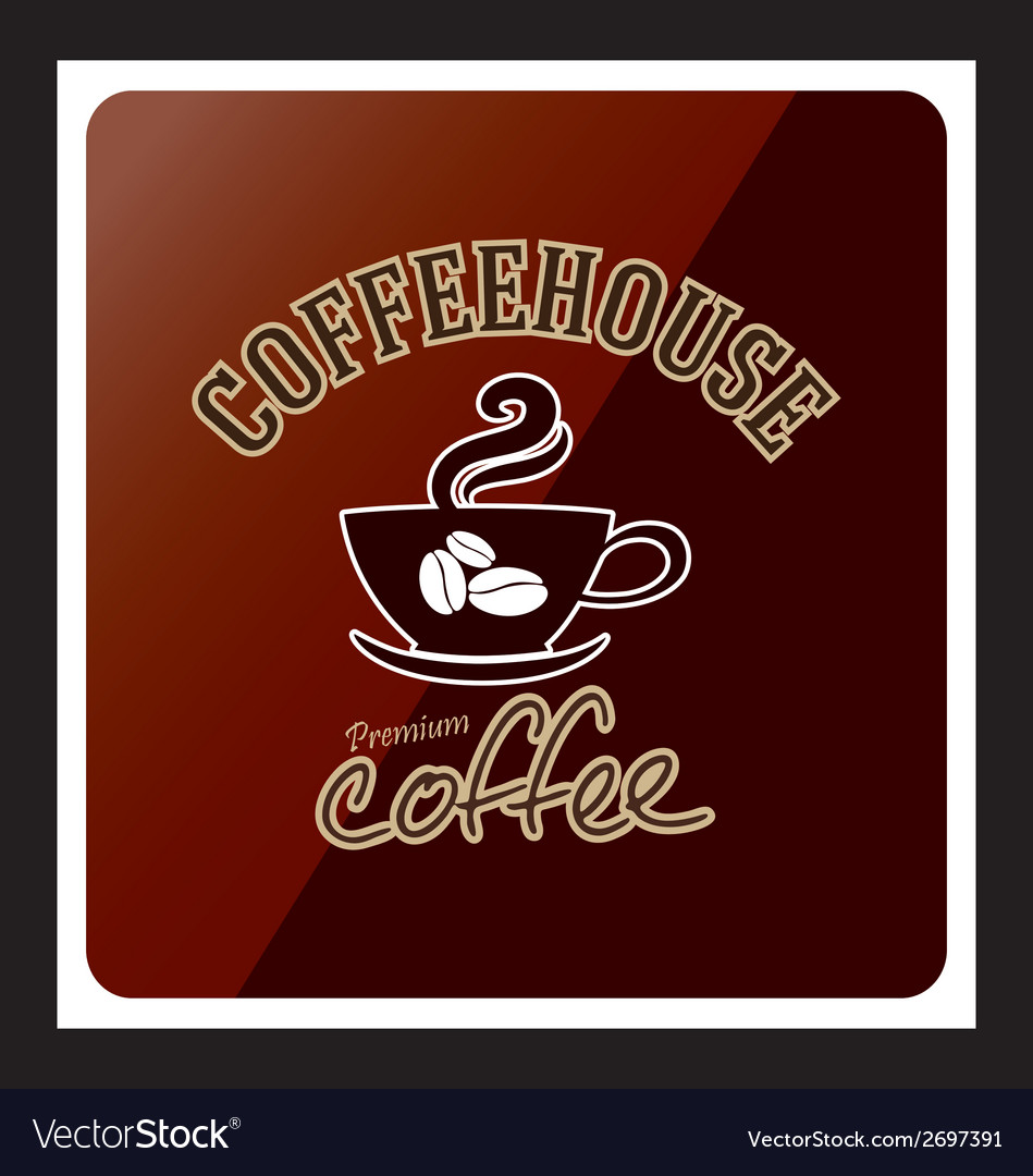 Coffee cup design icon background vector   Price: 1 Credit (USD $1)