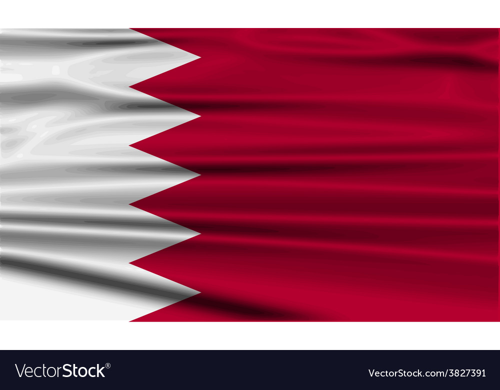 Flag of bahrain with old texture vector   Price: 1 Credit (USD $1)