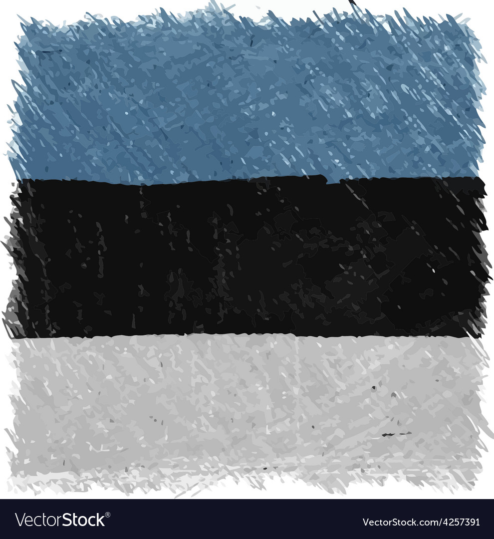 Flag of estonia handmade square shape vector | Price: 1 Credit (USD $1)