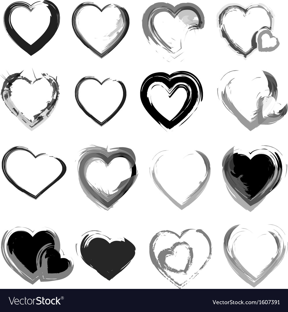 Grunge hearts background vector | Price: 1 Credit (USD $1)