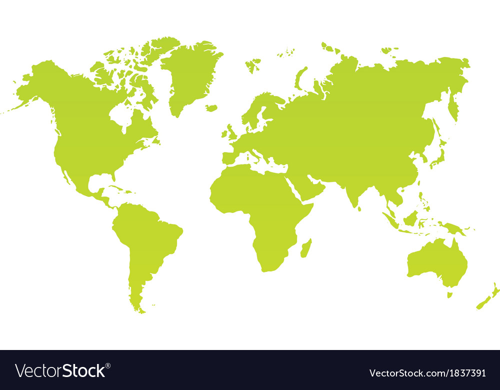Modern color world map on white background vector | Price: 1 Credit (USD $1)