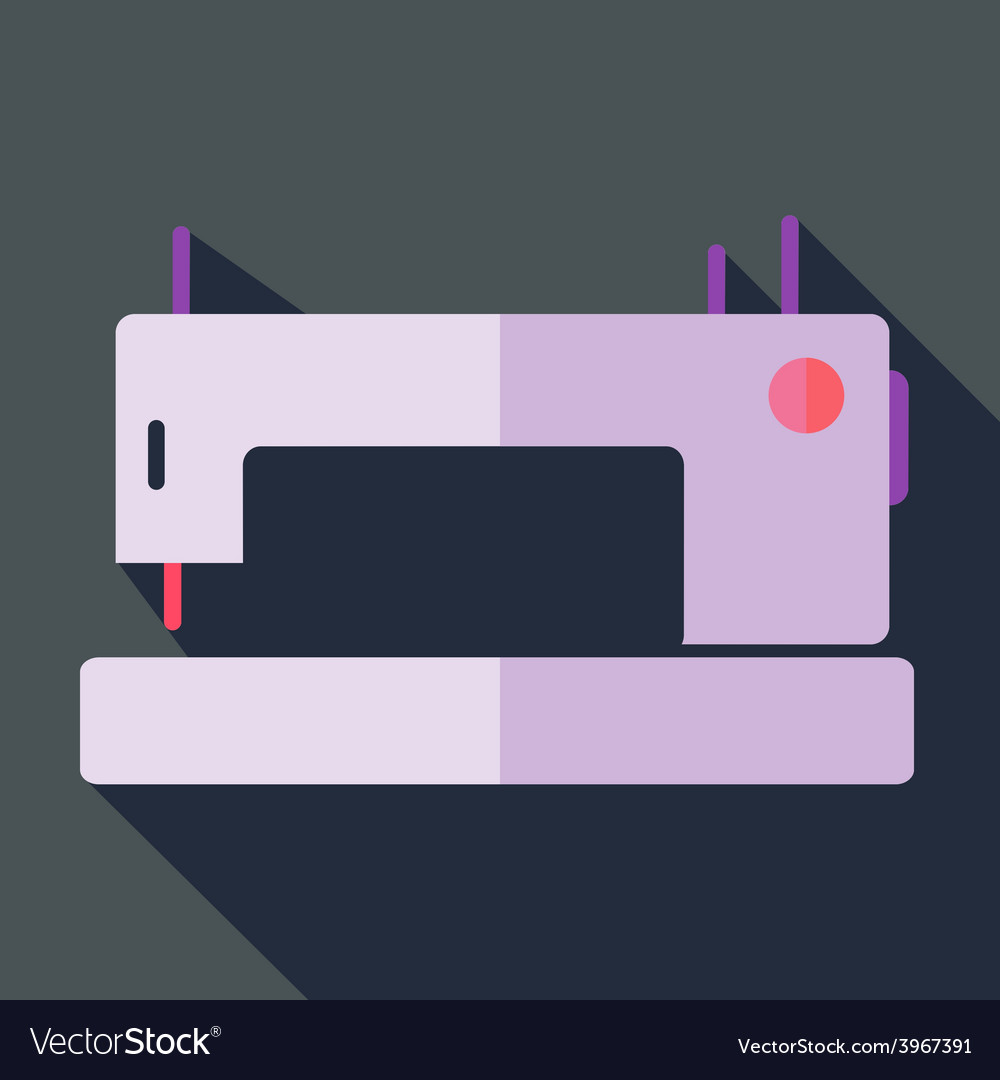 Modern flat design concept icon sewing machine vector | Price: 1 Credit (USD $1)