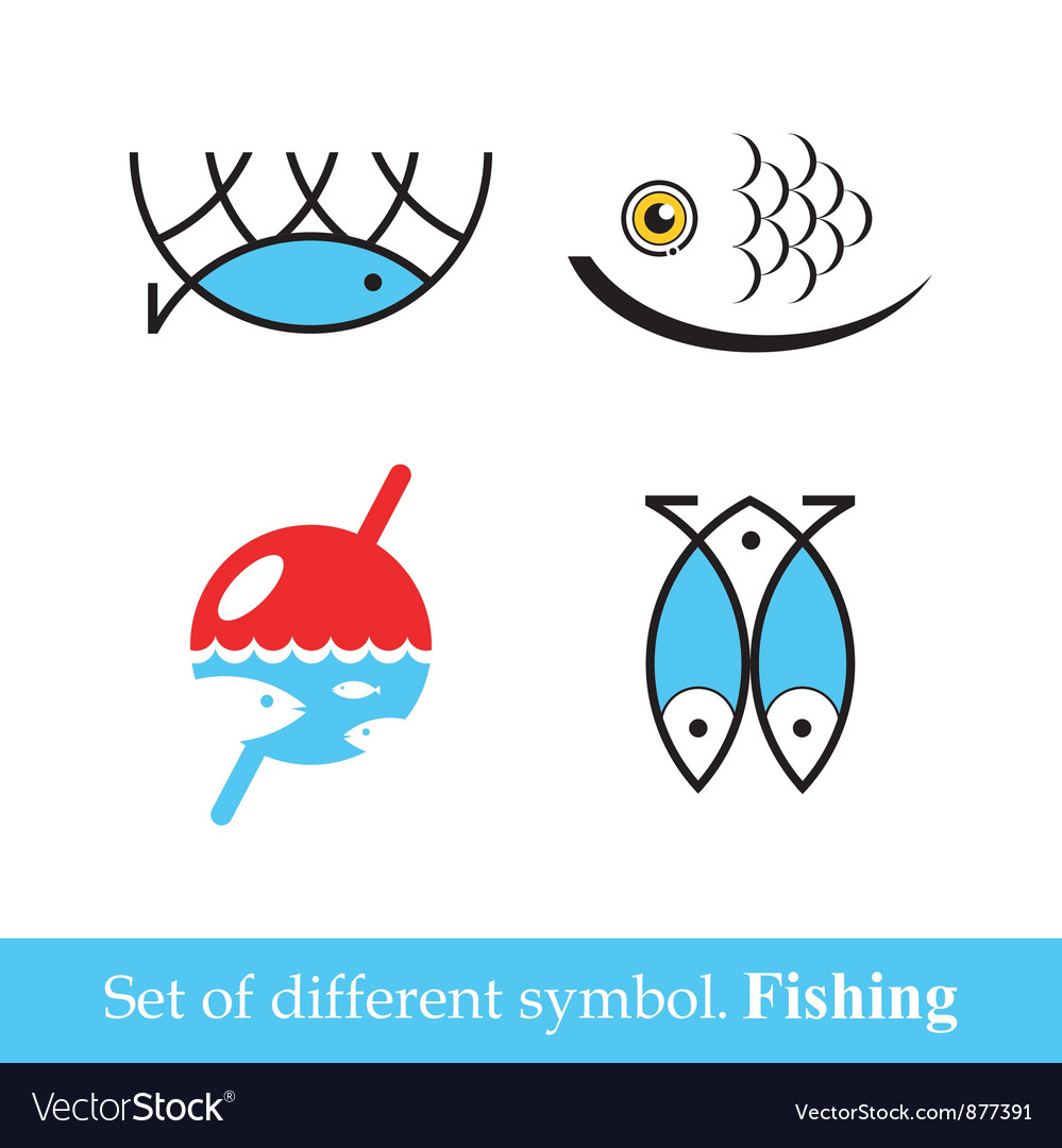 Set of symbols fishing vector | Price: 1 Credit (USD $1)