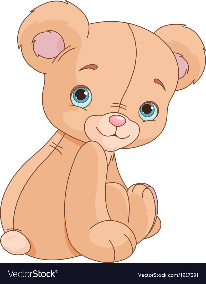 Sitting teddy bear vector | Price: 1 Credit (USD $1)