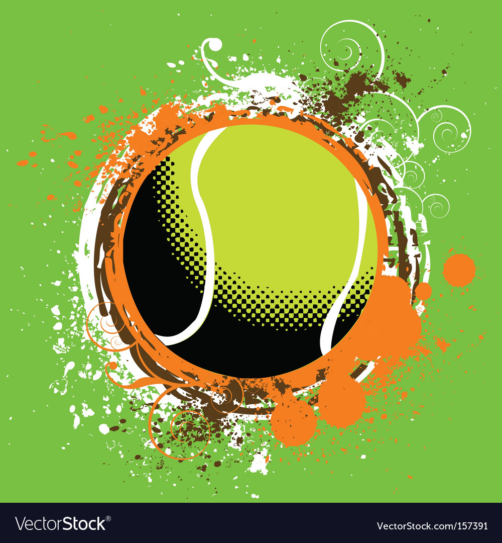 Tennis vector | Price: 1 Credit (USD $1)
