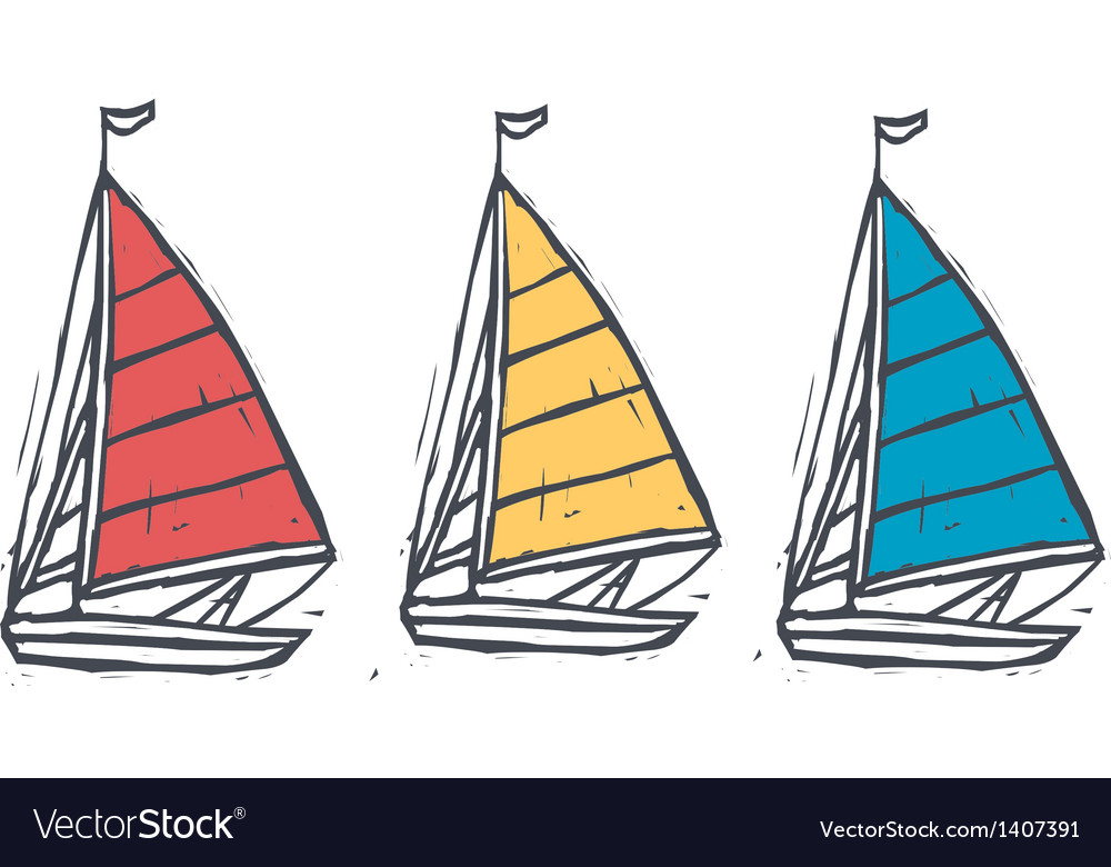 Three sailings are floating vector | Price: 1 Credit (USD $1)