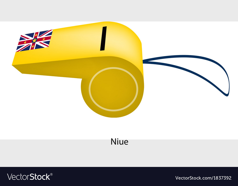 A beautiful yellow whistle of niue flag vector | Price: 1 Credit (USD $1)