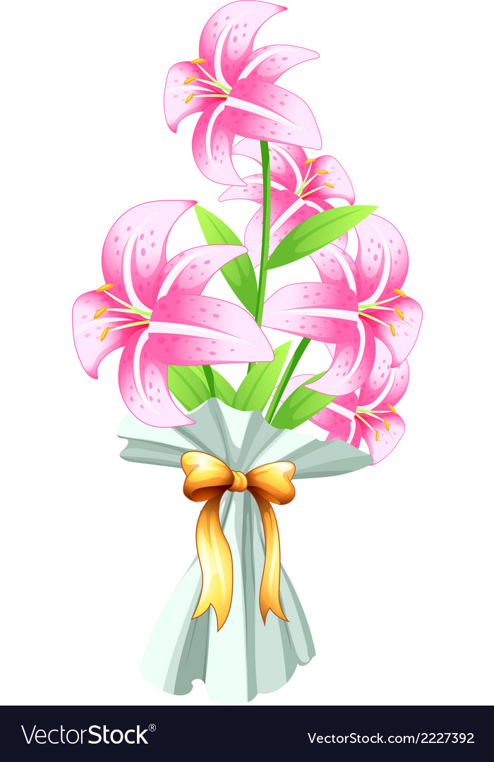 A boquet of fresh flowers vector   Price: 1 Credit (USD $1)