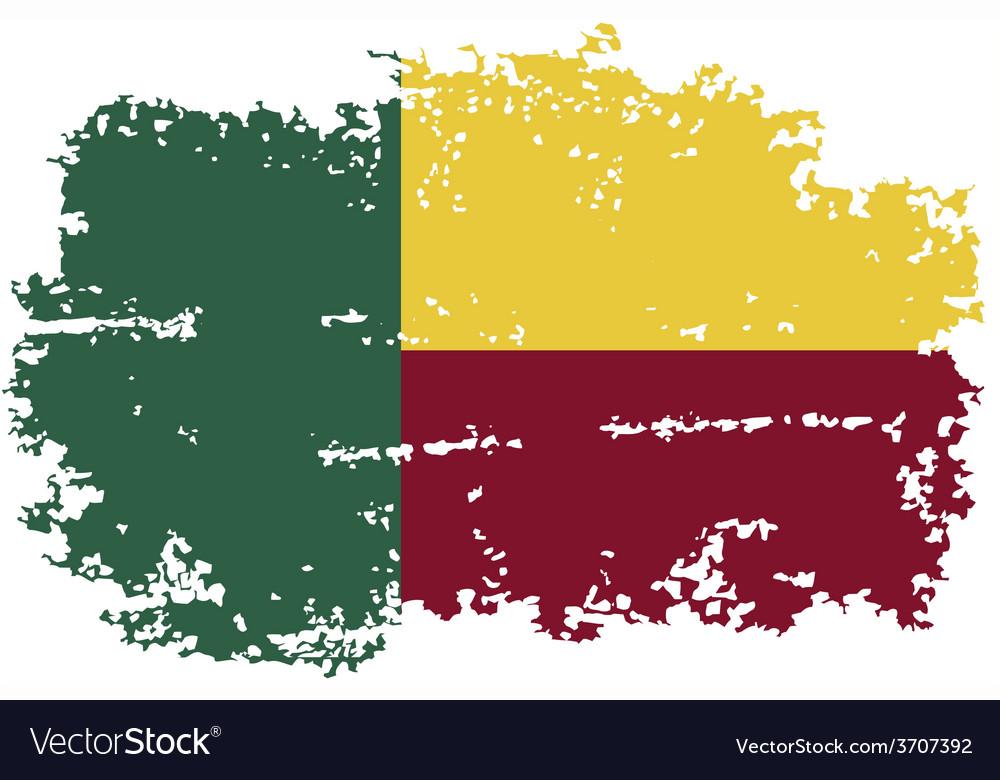 Benin grunge flag vector | Price: 1 Credit (USD $1)
